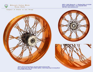 18x5, Apollo, S-Cross-Radial, Fade Fat Twisted spokes, Candy Copper, Vivid Black