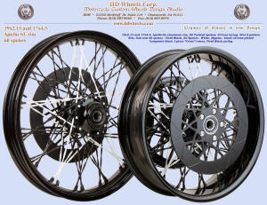 19x2.15 and 17x4.5, Apollo-SL, Twisted spokes, Star-5, Composite rotors