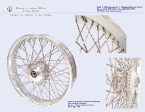 19x3.0, Apollo, New Diamond spokes, Polished