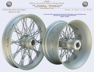 19x3.0 and 18x8.5, Apollo-SL, S-Cross-Radial, Fat spokes, Brushed with matte clear