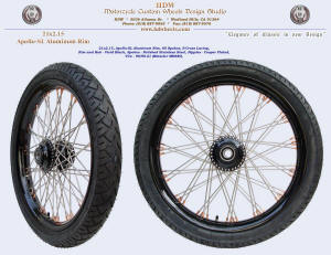 21x2.15, Apollo-SL, S-Cross, Vivid Black, Copper plated nipples, 90/90-21 tire