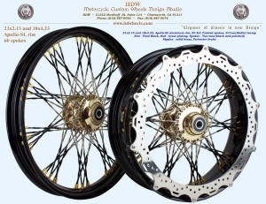 21x2.15 and 18x4.25, Apollo-SL, S-Cross-Radial, Fade Fat Twisted spokes, Vivid Black, Brass, Perimeter brake