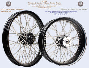 21x2.15 and 18x5.5, Apollo-SL, Cross-Radial, Fat and Fat Twisted spokes, Vivid Black