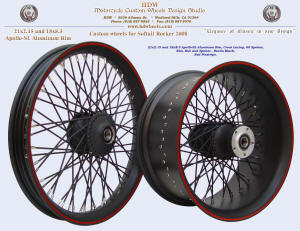 21x2.15 and 18x8.5, Apoollo-SL, Denim Black, Red pinstripe