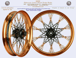 21x3.25, Apollo-SL, S-Cross-Radial, Fat Twisted Fade spokes, Candy Copper, Vivid Black