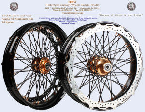 21x3.25, Apollo-SL, S-Cross, Vivid Black, Candy Copper, Copper plated nipples, Perimeter brake