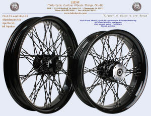 21x3.25 and 18x4.25, Apollo-SL, S-Cross-Radial, Twisted spokes, Vivid Black