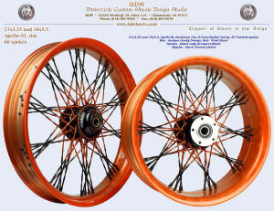 21x3.25 and 18x5.5, Apollo-SL, S-Cross-Radial, Fade spokes, Antique Candy Orange, Vivid Black