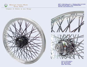 21x3.0, Steel rim, Fat spokes, Chrome, Vivid Black