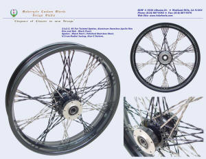 21x3.5, Apollo, S-Cross-Radial, Fat Twisted spokes,Star-5, Black Pearl