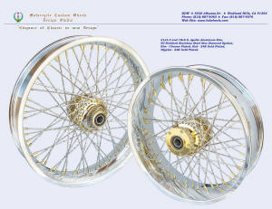 21x3.5 and 18x5.5, Apollo, New Diamond spokes, Chrome and Gold plating