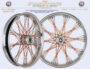 23x3.75, Apollo-SL, S-Cross-Radial, Polished, Candy Copper, Black chrome plated nipples