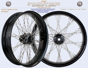23x5.0, Apollo-SL, S-Cross-Radial, Twisted spokes, Vivid Black