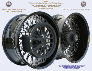 "18x8.5, Apollo, Vivid and Denim Black, HHI inboard system, ""Radial"" pulley"