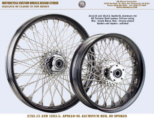 21x2.15 and 16x3.5 Apollo-SL S-Cross Tortoise Shell spokes Candy Black and chrome