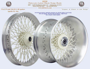 21x3.25 and 18x10.5, Apollo-SL, Fat spokes, Brushed, Light Cream, For PM type inboard system