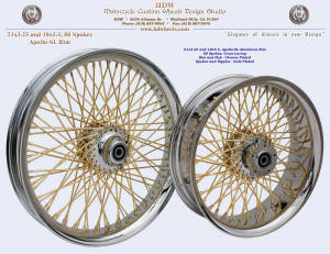 21x3.25 and 18x5.5, Apollo-SL, Chrome, Gold plating