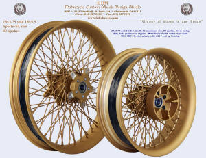23x3.75 and 18x5.5, Apollo-SL, Metallic gold with matte clear, TRC-14 rotor carriers