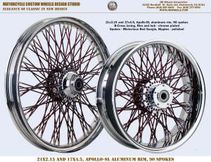 21x2.15 and 17x4.5 Apollo-SL 80 spokes B-Cross Chrome and Misterious Red Sunglo